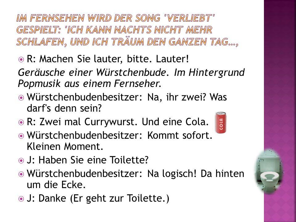  Moderatorin: Das ist der neue Song von den Eisbrechern, Verliebt , Platz eins der deutschen Hitparade.