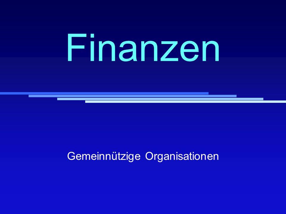 Finanzen Gemeinnützige Organisationen