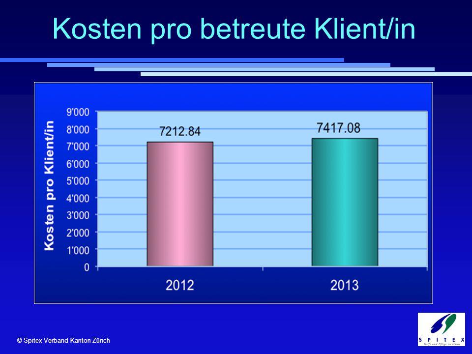 © Spitex Verband Kanton Zürich Kosten pro betreute Klient/in © RehabNET