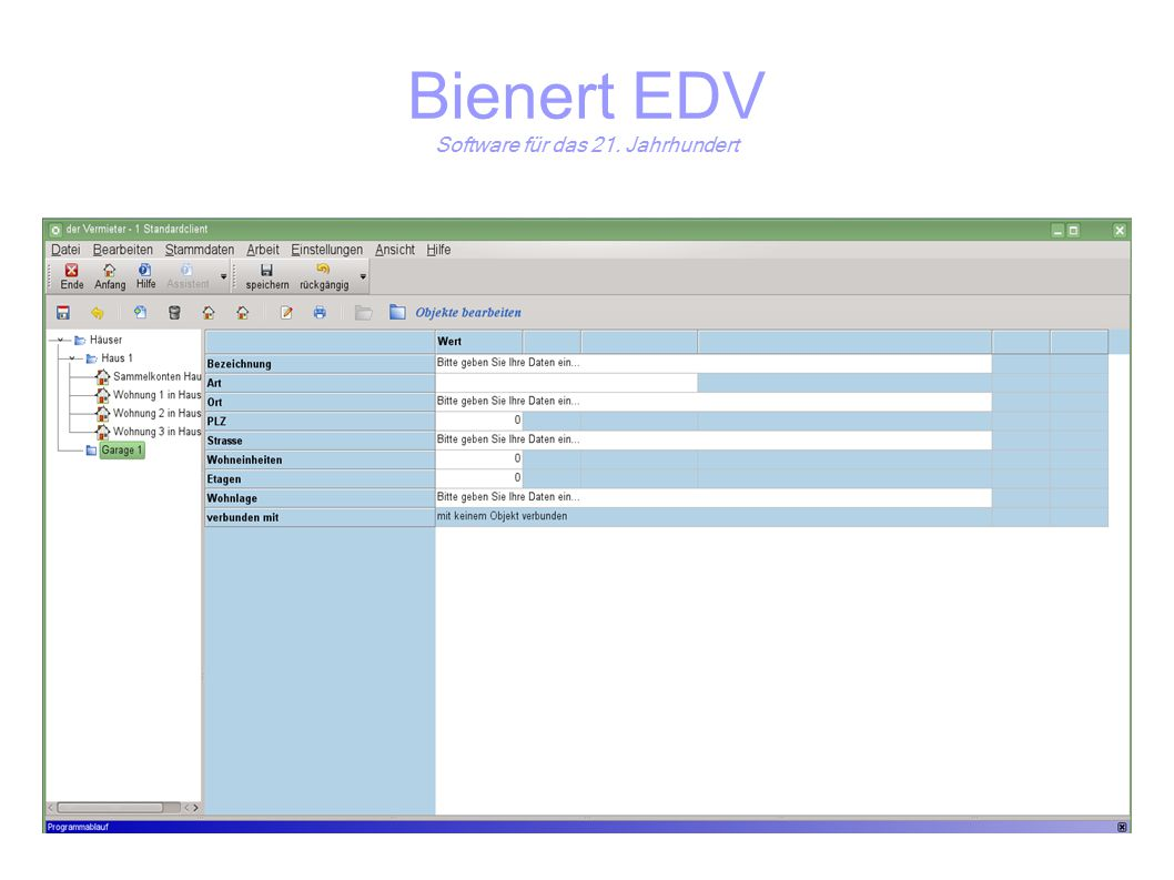 Bienert EDV Software für das 21. Jahrhundert