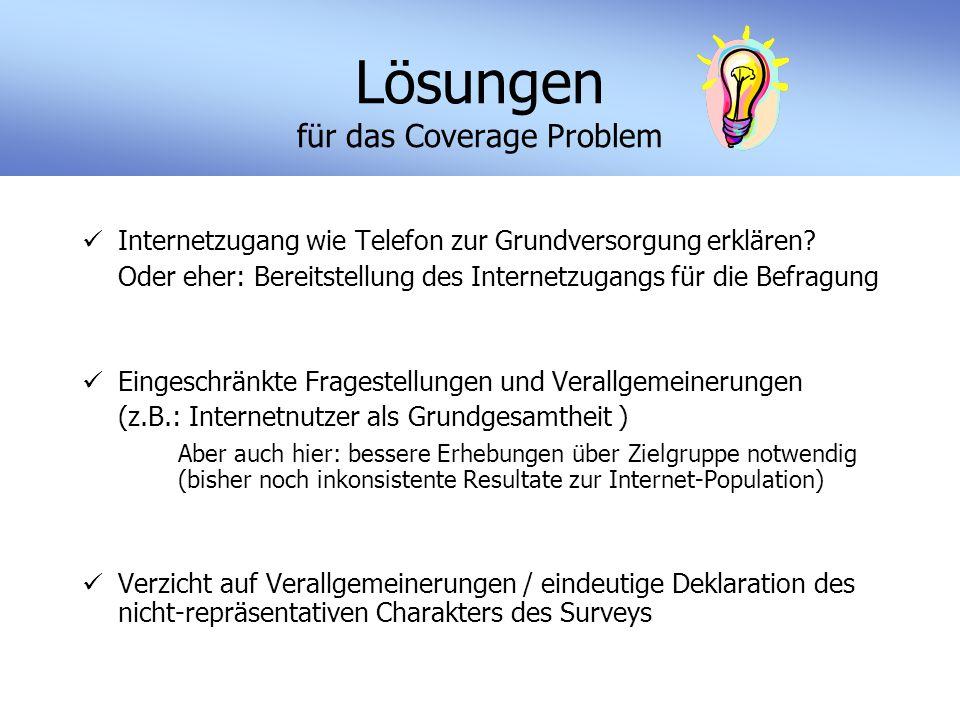 Lösungen für das Coverage Problem Internetzugang wie Telefon zur Grundversorgung erklären.