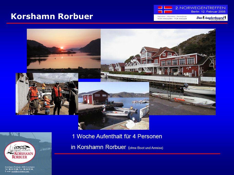 Korshamn Rorbuer 1 Woche Aufenthalt für 4 Personen in Korshamn Rorbuer ( ohne Boot und Anreise)