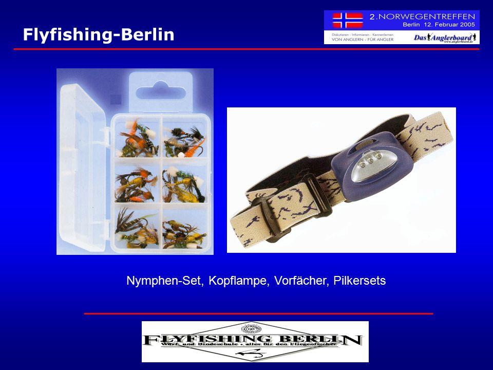 Flyfishing-Berlin Nymphen-Set, Kopflampe, Vorfächer, Pilkersets