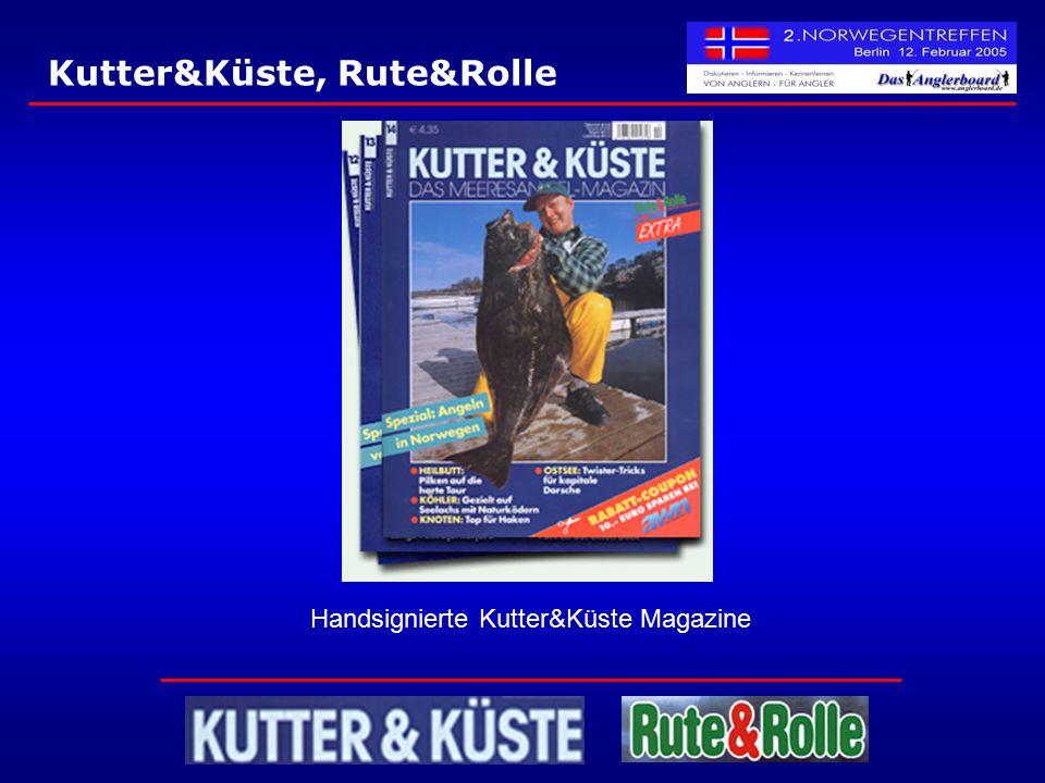 Kutter&Küste, Rute&Rolle Handsignierte Kutter&Küste Magazine