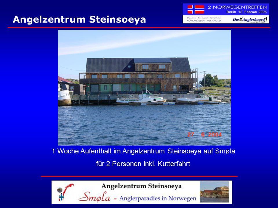 Angelzentrum Steinsoeya 1 Woche Aufenthalt im Angelzentrum Steinsoeya auf Smøla für 2 Personen inkl. Kutterfahrt