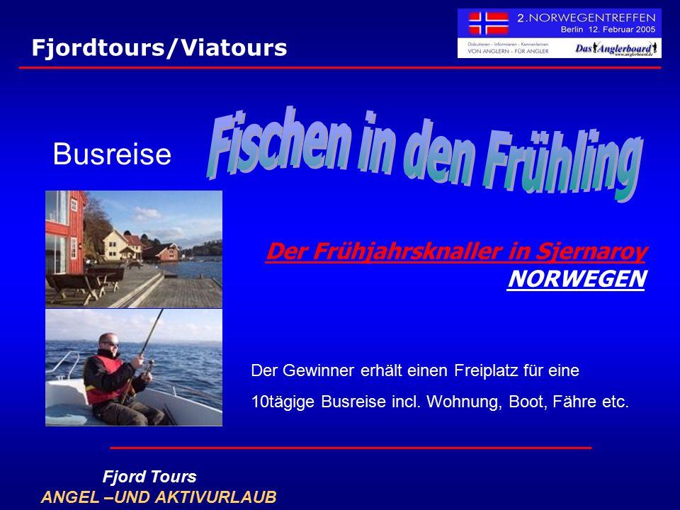 Der Frühjahrsknaller in Sjernaroy NORWEGEN Busreise Der Gewinner erhält einen Freiplatz für eine 10tägige Busreise incl. Wohnung, Boot, Fähre etc. Fjo