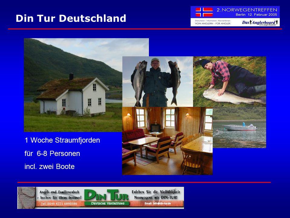Din Tur Deutschland 1 Woche Straumfjorden für 6-8 Personen incl. zwei Boote