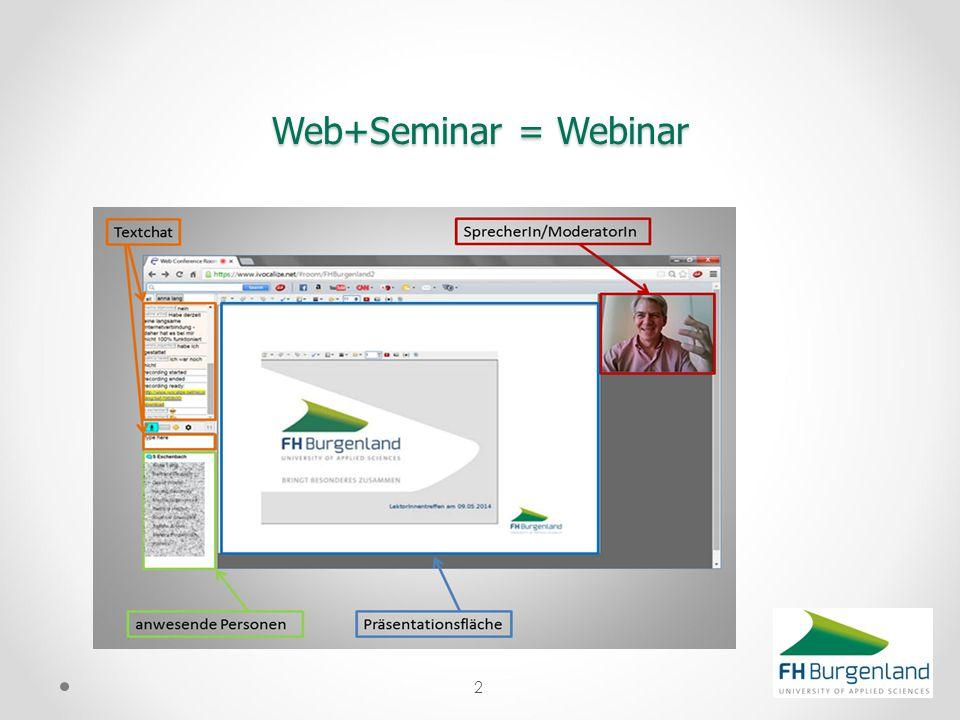 2 Web+Seminar = Webinar