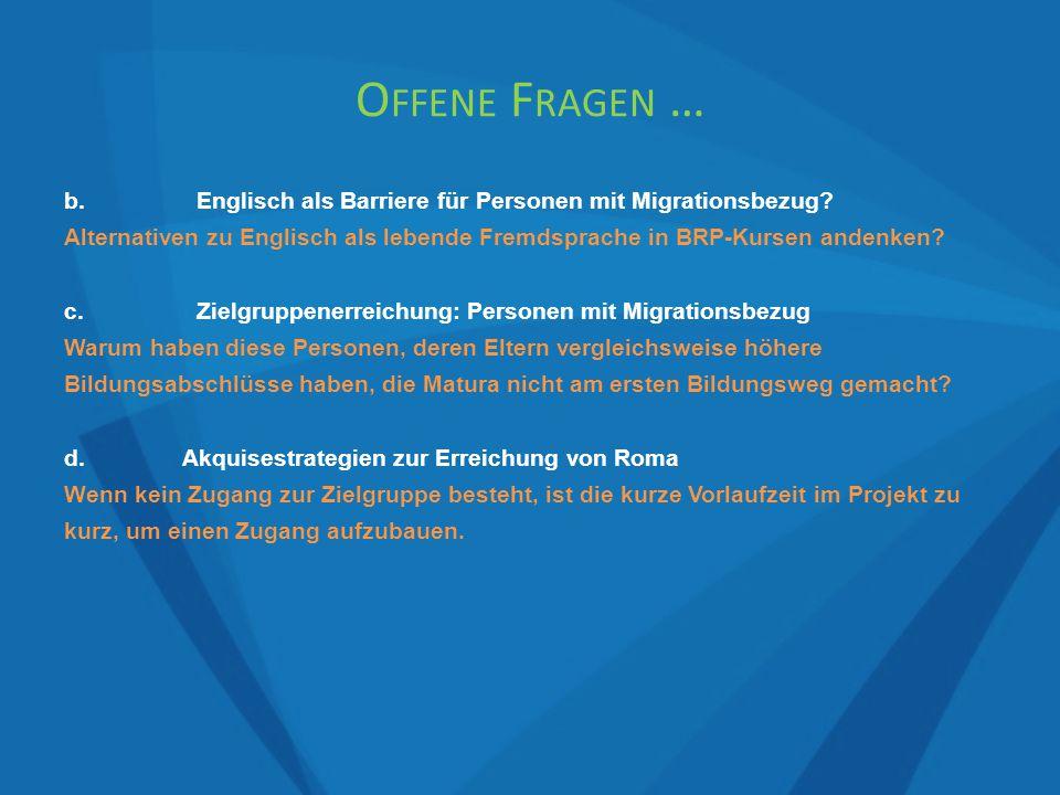 b.Englisch als Barriere für Personen mit Migrationsbezug.