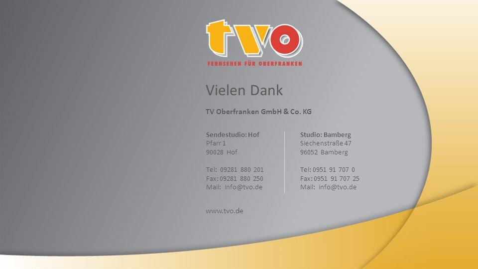 Vielen Dank TV Oberfranken GmbH & Co.