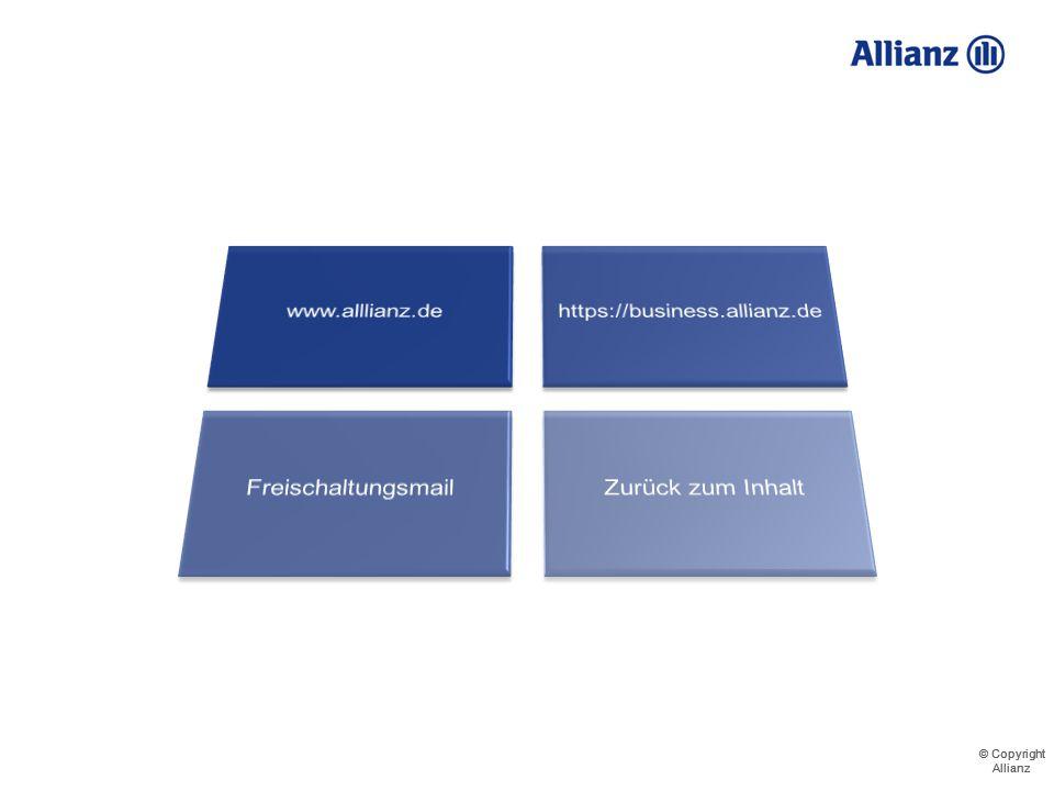 © Copyright Allianz © Copyright Allianz Ihr Weg zum Portal