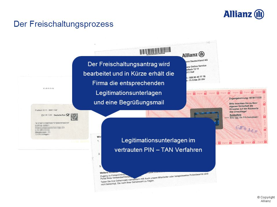 © Copyright Allianz © Copyright Allianz Gutachtenanforderung - Prozess 711123456000 Musterfirma GmbH Maximilian Meyer 711123456000 Musterfirma Gmb