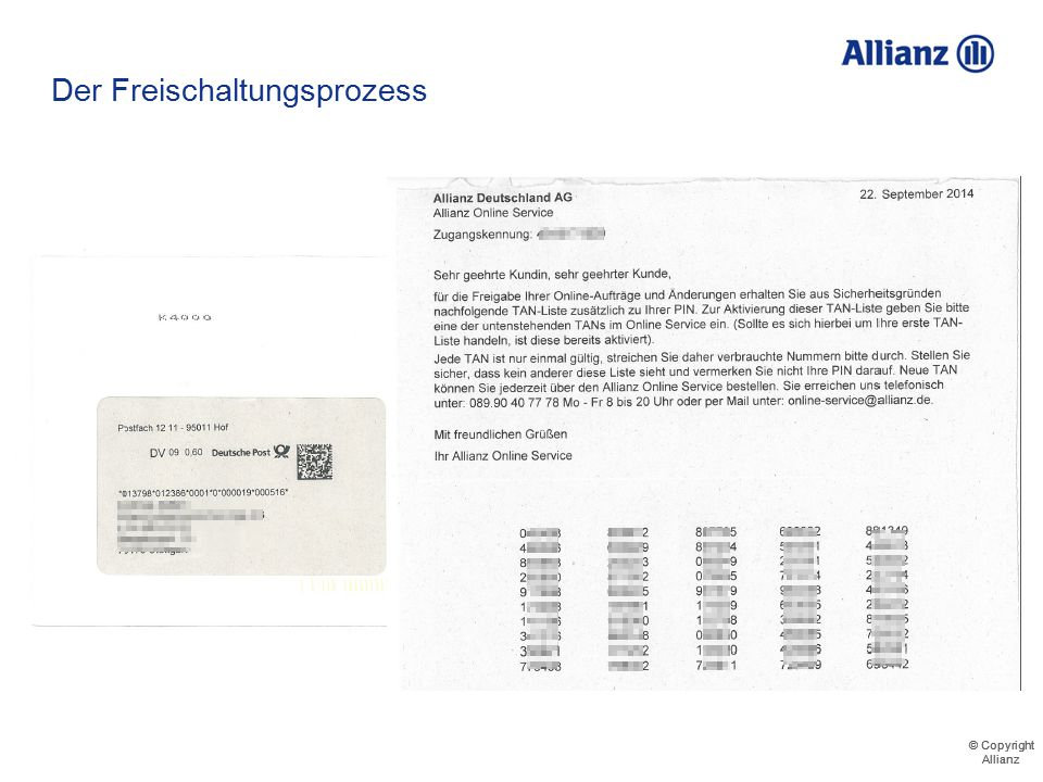 © Copyright Allianz © Copyright Allianz Der LogIn