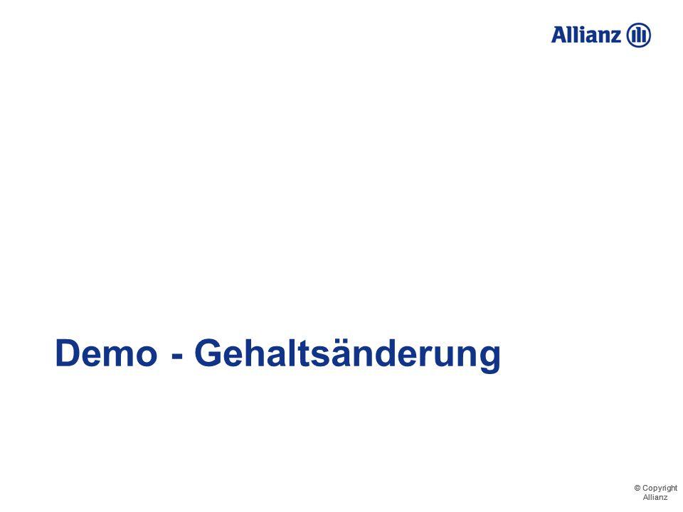 © Copyright Allianz © Copyright Allianz Demo Veränderungen