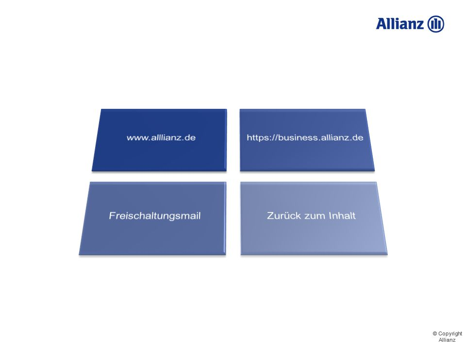 © Copyright Allianz © Copyright Allianz Demo - Parameterabfrage