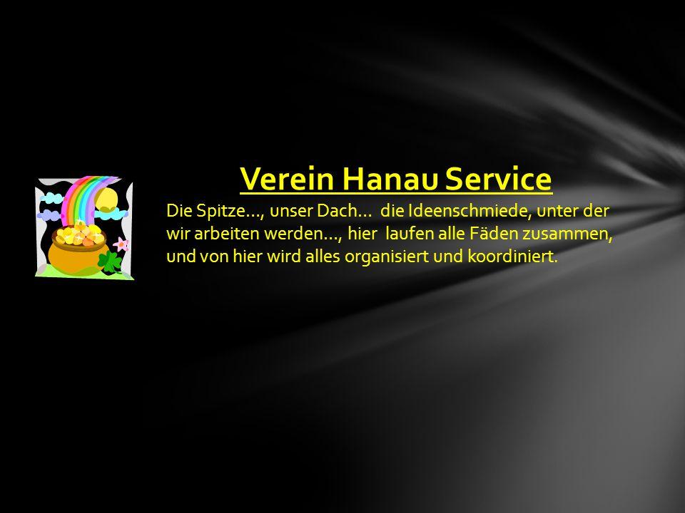 """Sehr geehrte Damen und Herren, wir präsentieren Ihnen hier unsere Geschäftsidee """"Hanau-Service ."""