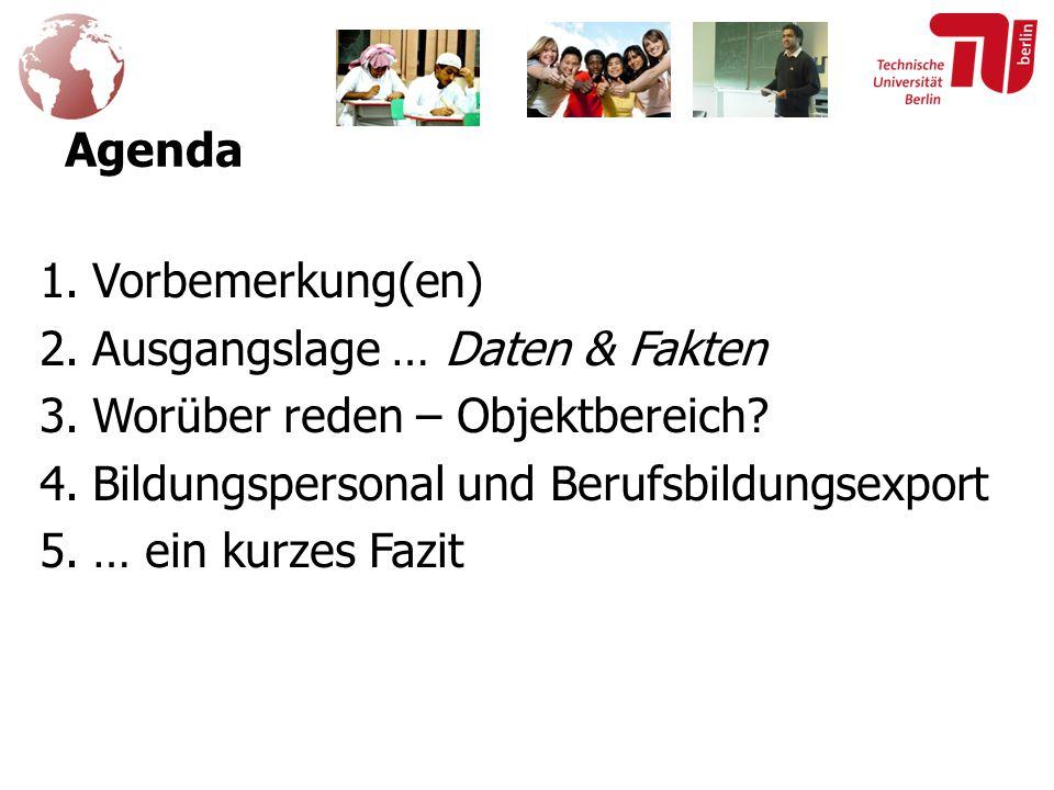 Agenda 1.Vorbemerkung(en) 2.Ausgangslage … Daten & Fakten 3.Worüber reden – Objektbereich.