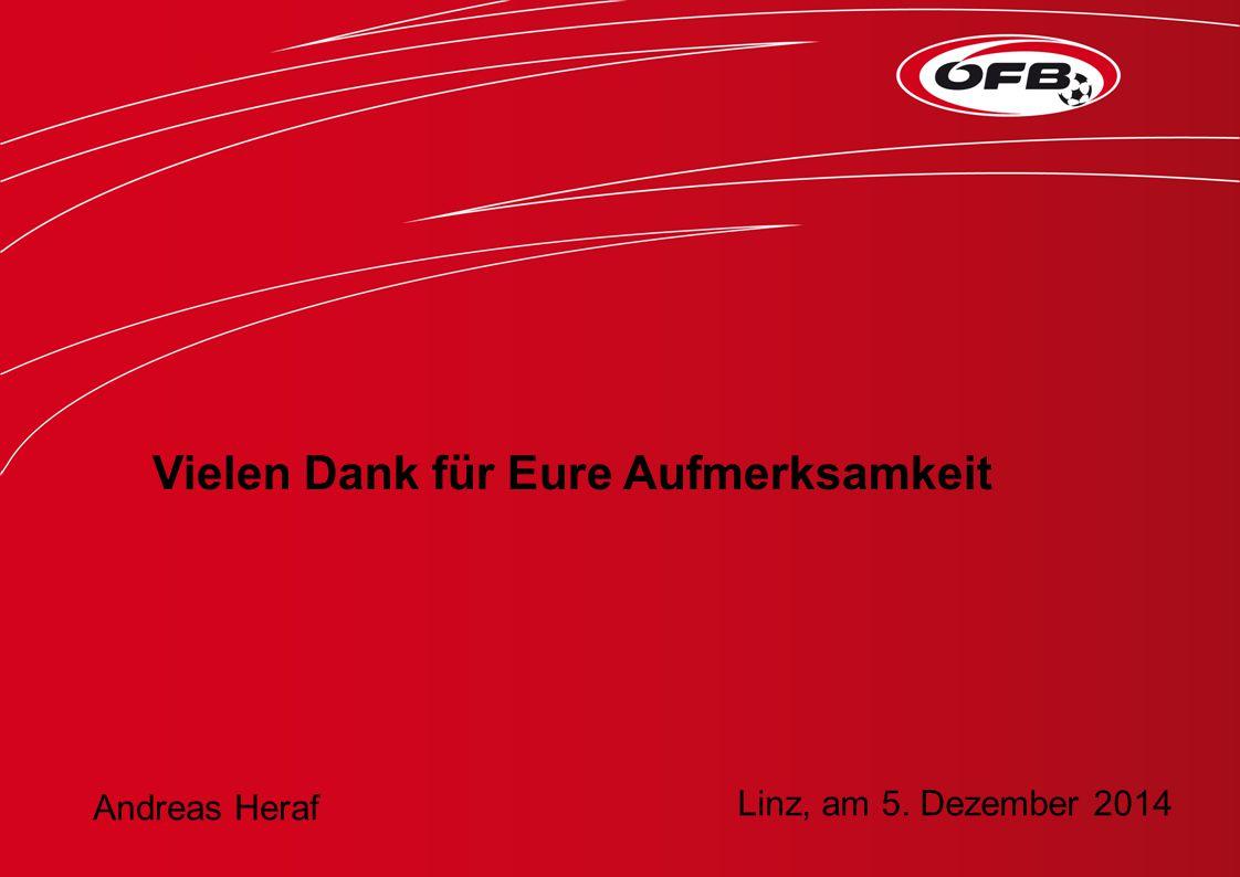 Vielen Dank für Eure Aufmerksamkeit Andreas Heraf Linz, am 5. Dezember 2014
