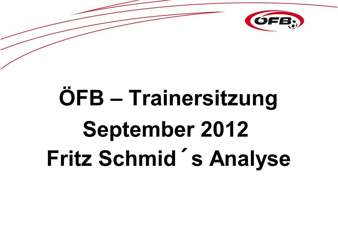 ÖFB – Trainersitzung September 2012 Fritz Schmid´s Analyse