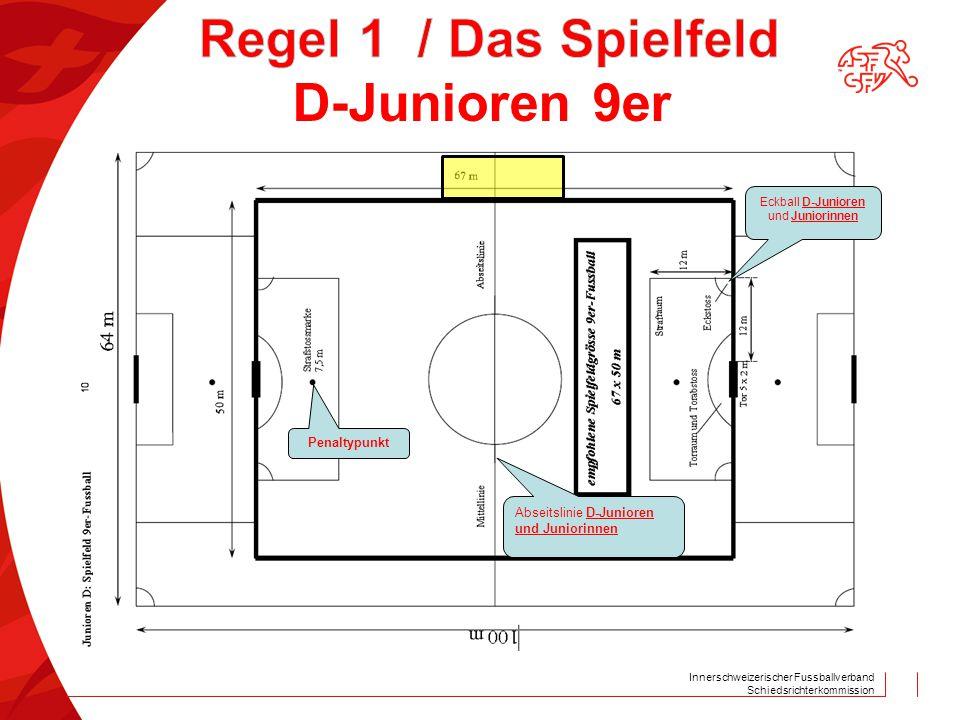 Innerschweizerischer Fussballverband Schiedsrichterkommission Penaltypunkt Abseitslinie D-Junioren und Juniorinnen Eckball D-Junioren und Juniorinnen