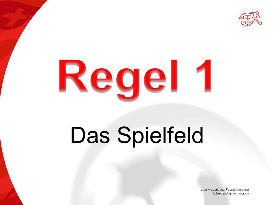 Innerschweizerischer Fussballverband Schiedsrichterkommission Ausführungsbestimmungen für den Anstoss:  Alle Spieler in der eigenen Spielfeldhälfte.