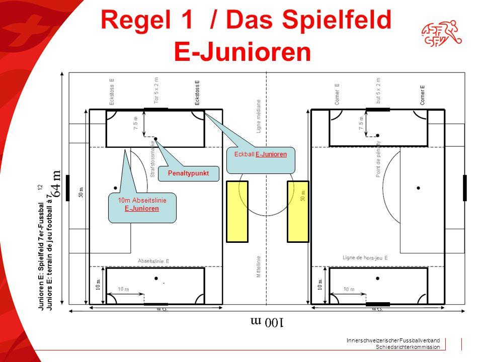 Innerschweizerischer Fussballverband Schiedsrichterkommission Penaltypunkt 10m Abseitslinie E-Junioren Eckball E-Junioren