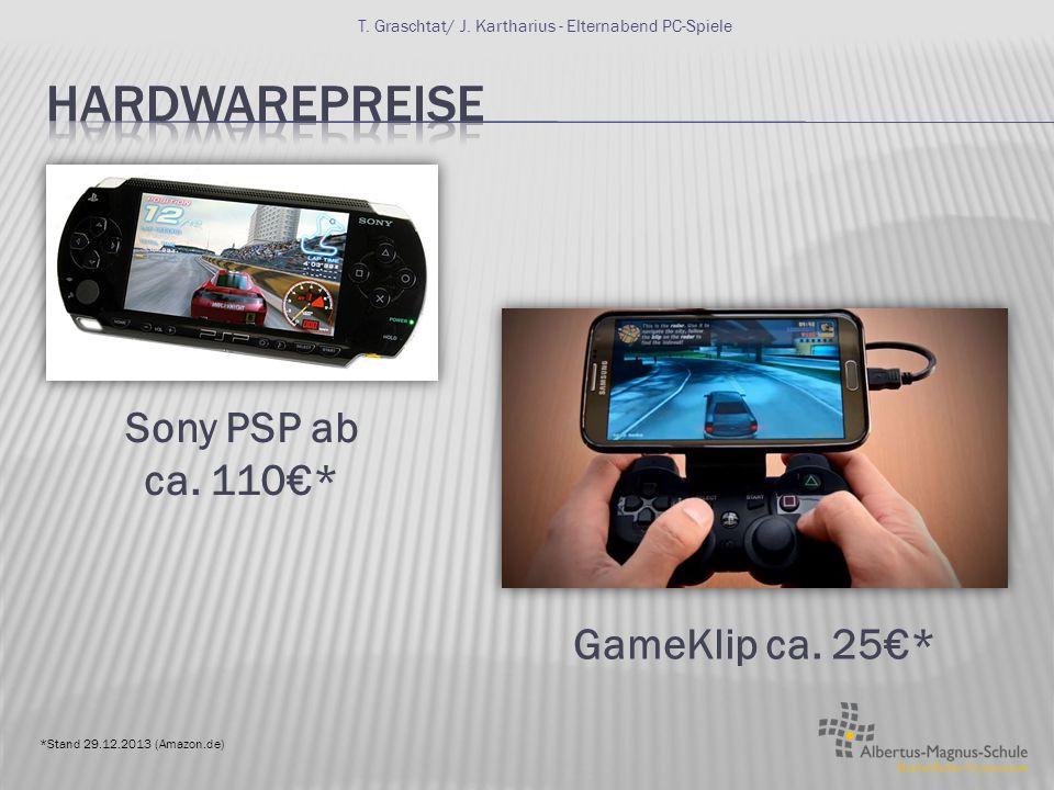 Einsteiger Spiele PC ab ca. 500 € (nur Tower ohne Zubehör) T. Graschtat/ J. Kartharius - Elternabend PC-Spiele