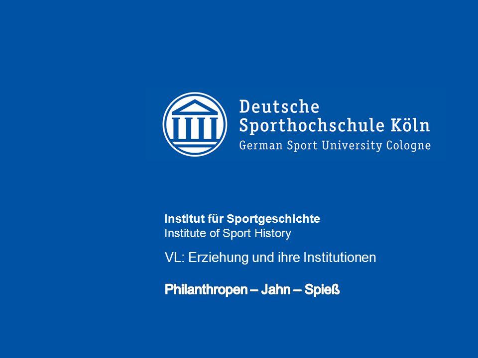 Institut für Sportgeschichte Institute of Sport History