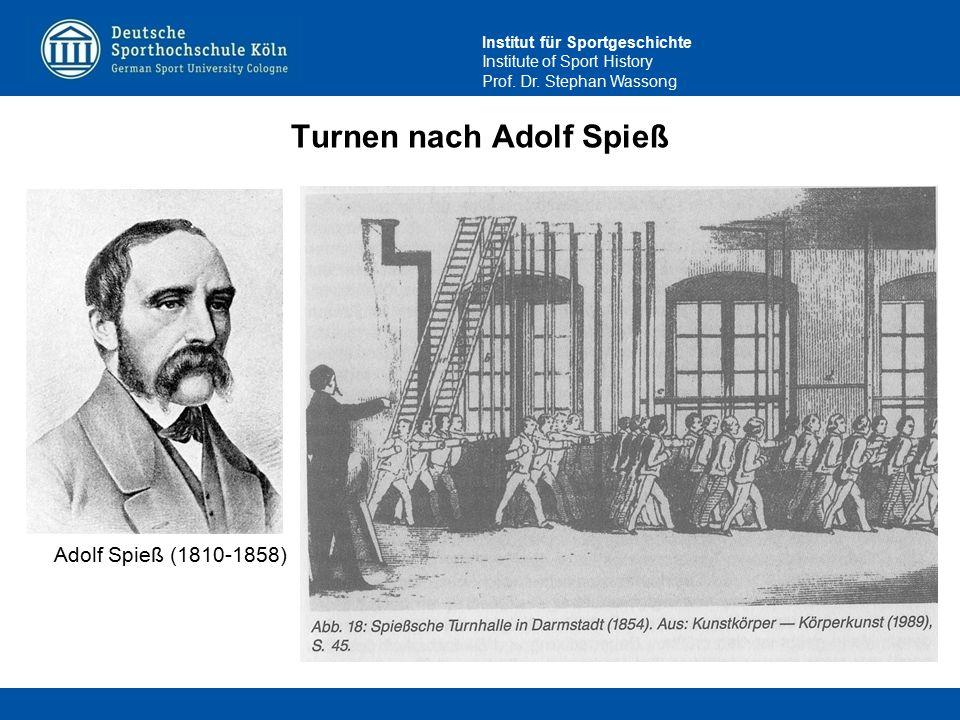 Institut für Sportgeschichte Institute of Sport History Prof. Dr. Stephan Wassong Turnen nach Adolf Spieß Adolf Spieß (1810-1858)