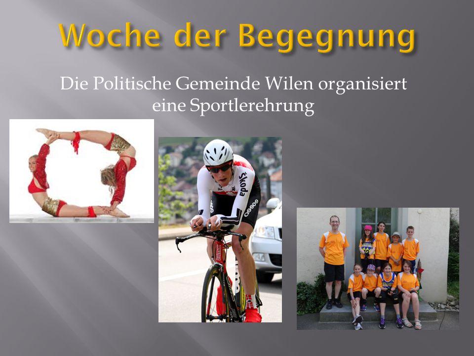 Die Politische Gemeinde Wilen organisiert eine Sportlerehrung