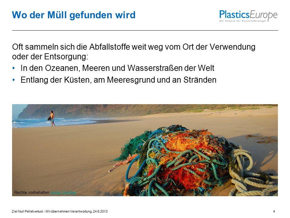 Wo der Müll gefunden wird Oft sammeln sich die Abfallstoffe weit weg vom Ort der Verwendung oder der Entsorgung: In den Ozeanen, Meeren und Wasserstra