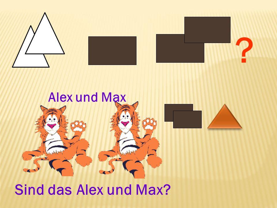 ? Sind das Alex und Max? Alex und Max