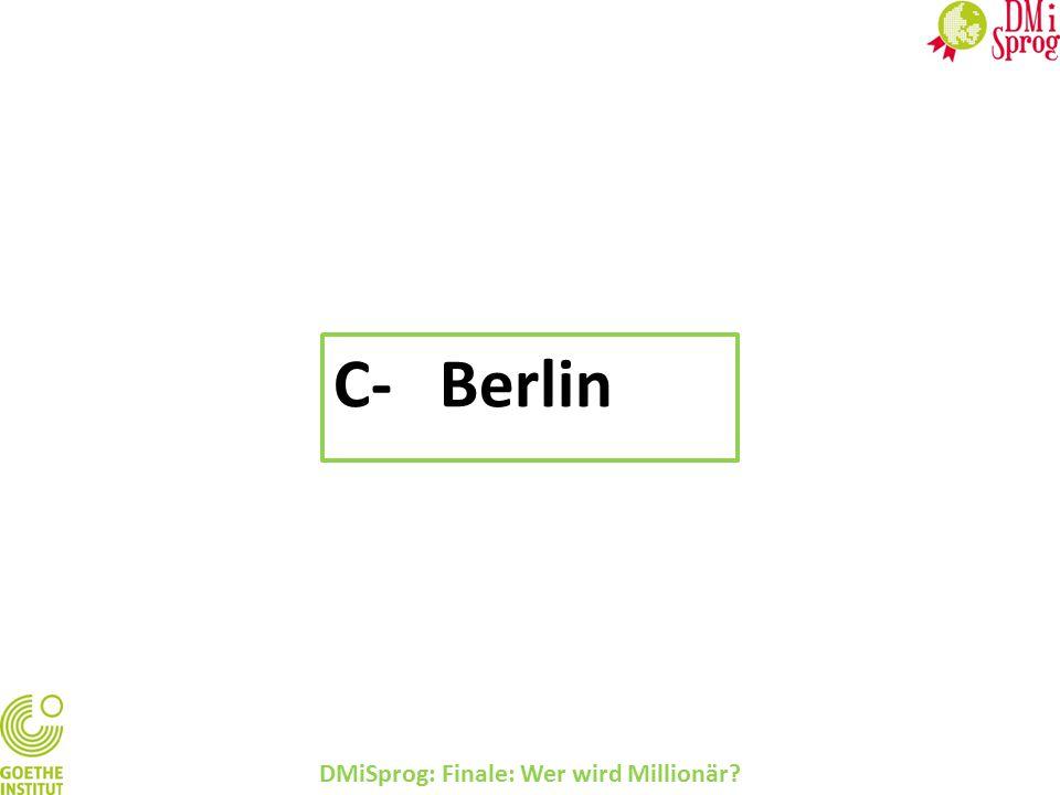 DMiSprog: Finale: Wer wird Millionär? C-Berlin