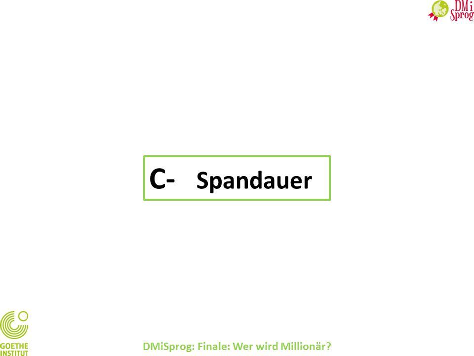 DMiSprog: Finale: Wer wird Millionär? C- Spandauer