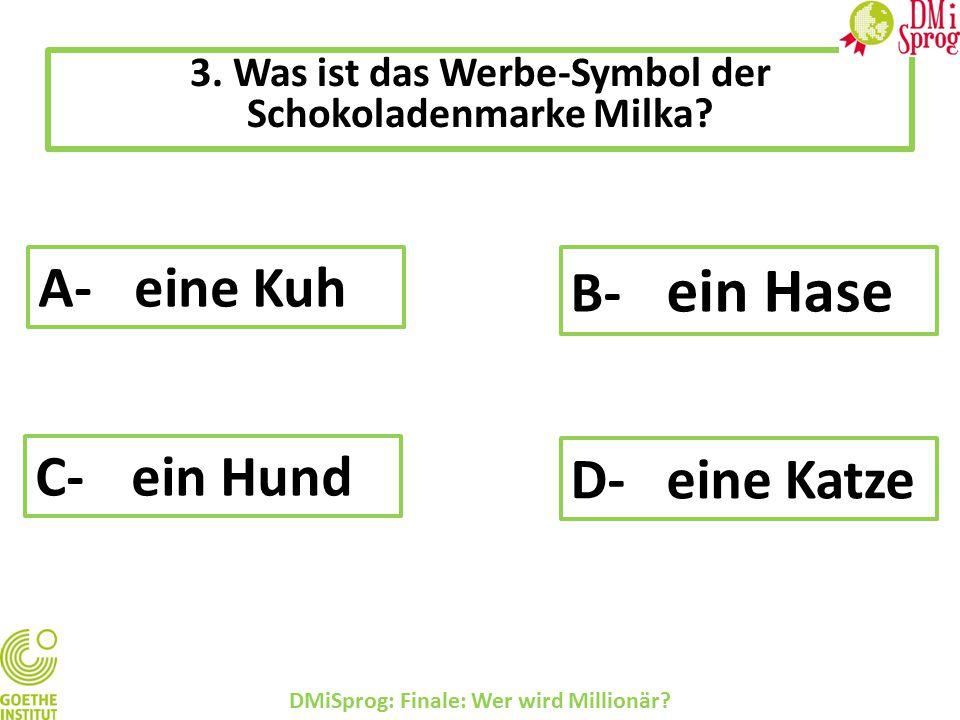 3.Was ist das Werbe-Symbol der Schokoladenmarke Milka.
