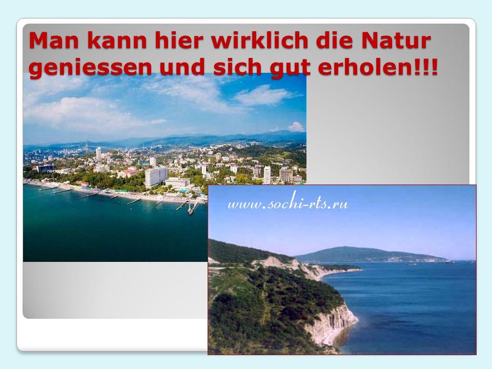 Man kann hier wirklich die Natur geniessen und sich gut erholen!!!