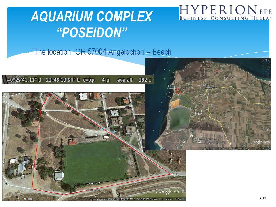 " The location: GR 57004 Angelochori – Beach AQUARIUM COMPLEX ""POSEIDON"" 4-19"