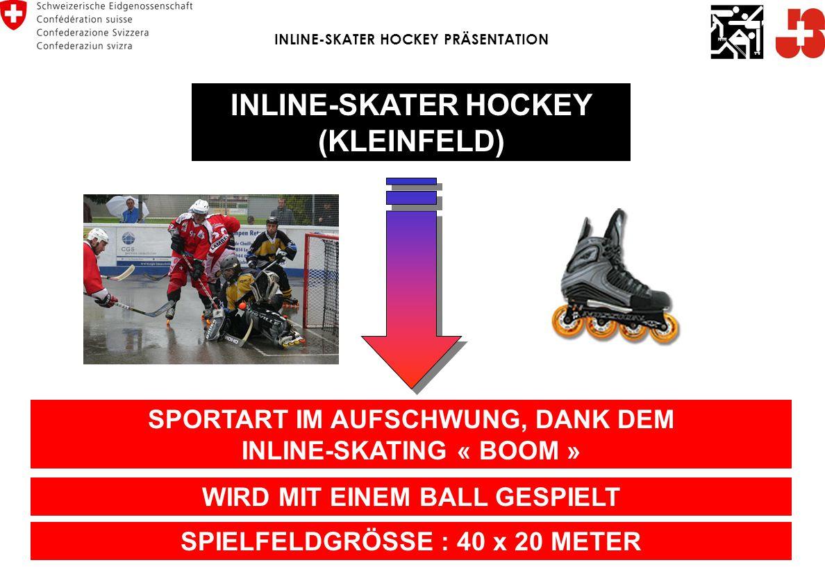 VORTSCHRITT DER SPORTART ENDE 80er JAHRE HEUTE INLINE-SKATER HOCKEY PRÄSENTATION