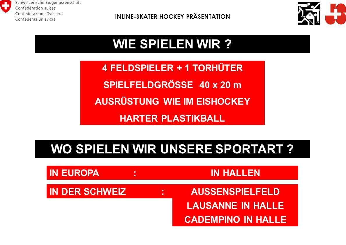INTERNATIONALER VERBAND (iishf) Internationale Inline Skater-Hockey Federation ENGLAND POLEN RUSSLAND ISRAEL SCHWEIZ DEUTSCH- LAND DÄNEMARK HOLLAND INLINE-SKATER HOCKEY PRÄSENTATION