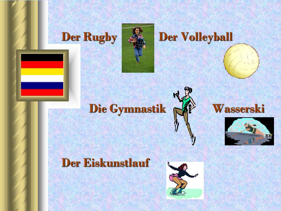 Der Rugby er Volleyball Die Gymnastik Wasserski Der Eiskunstlauf