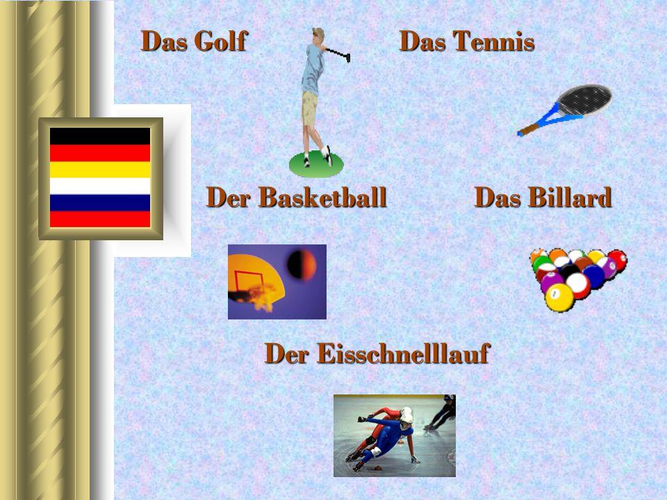 Das Golf Das Tennis Der Basketball Das Billard Der Eisschnelllauf