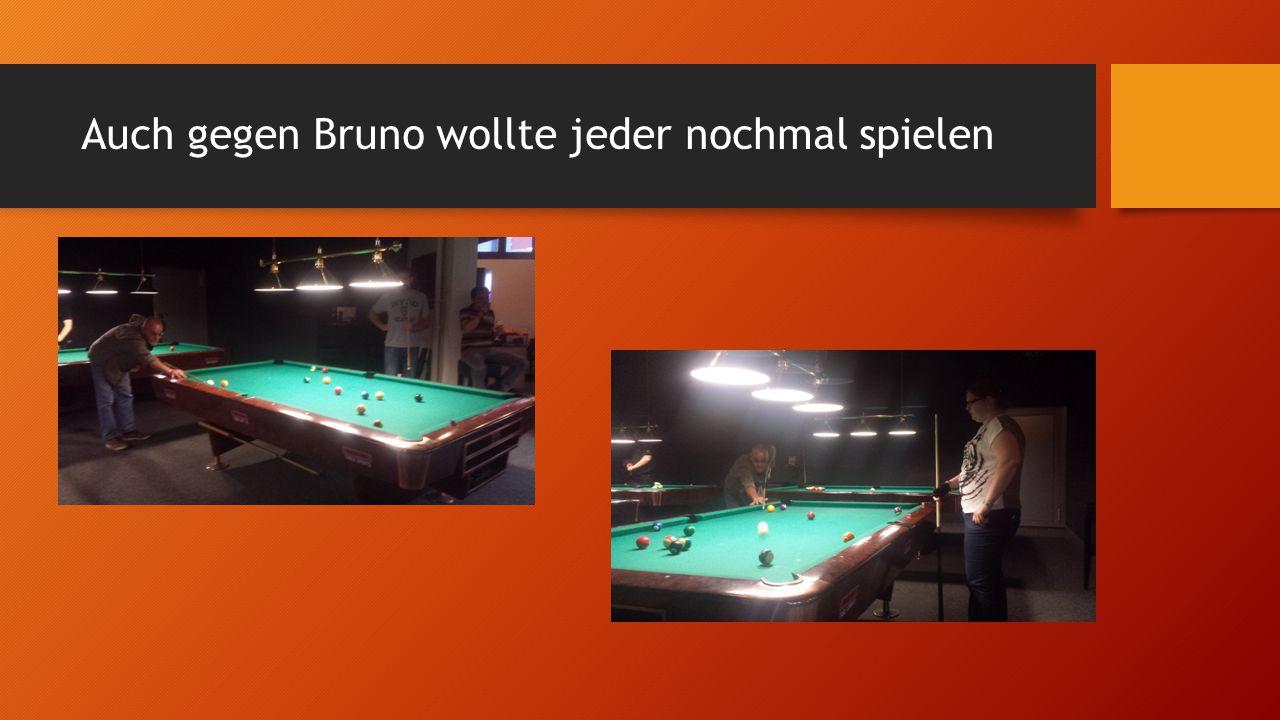 Nach dem Match wurde noch Billiard gespielt