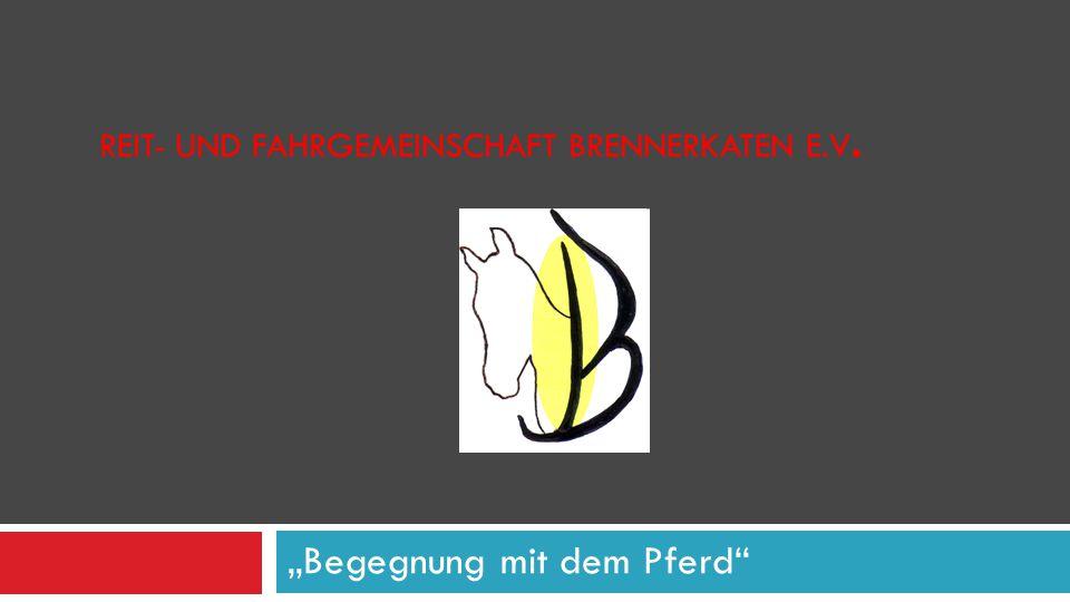 """REIT- UND FAHRGEMEINSCHAFT BRENNERKATEN E.V. """"Begegnung mit dem Pferd"""""""