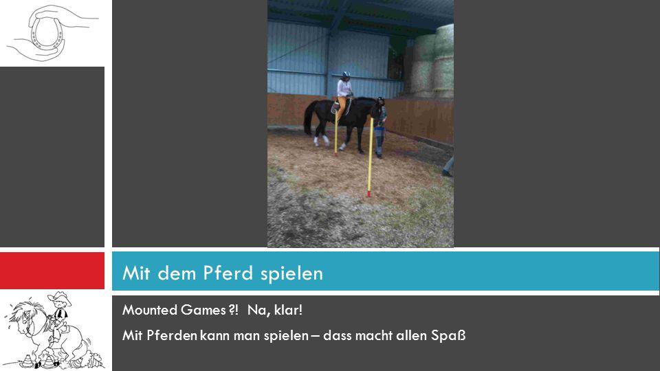 Mounted Games ?! Na, klar! Mit Pferden kann man spielen – dass macht allen Spaß Mit dem Pferd spielen