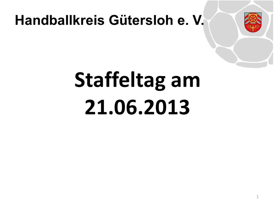 Handballkreis Gütersloh e.V. 22 Bekanntgabe der Staffeleinteilungen gem.