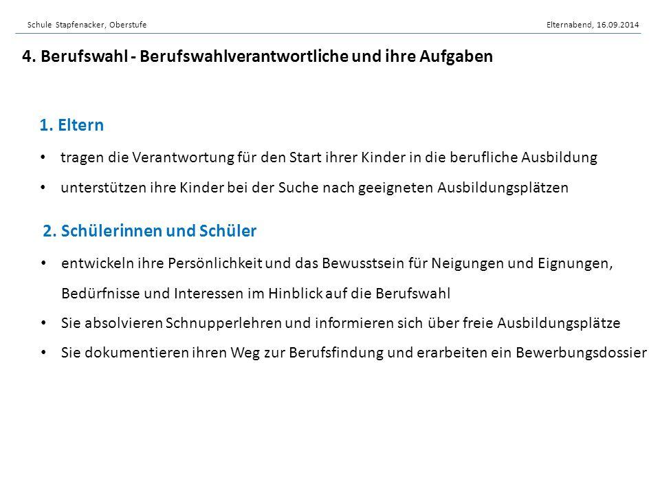 3.Klassenlehrpersonen in Zusammenarbeit mit Deutsch- und IF-Lehrpersonen 4.