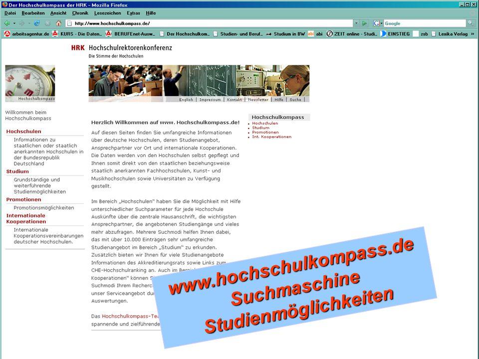 www.hochschulkompass.deSuchmaschineStudienmöglichkeiten
