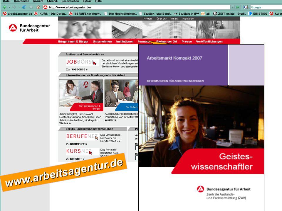 www.arbeitsagentur.de VeröffentlichungenArbeitsmarkt für Fach- und für Fach- und Führungskräfte Führungskräfte