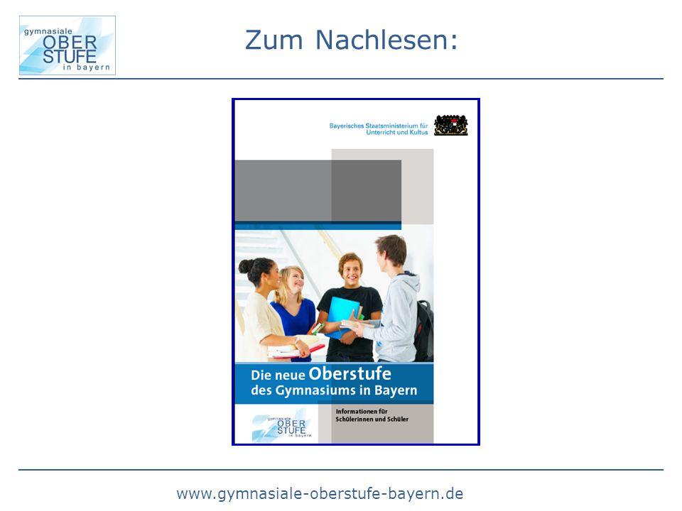 www.gymnasiale-oberstufe-bayern.de Zum Nachlesen: