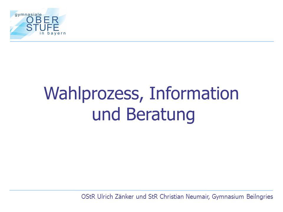OStR Ulrich Zänker und StR Christian Neumair, Gymnasium Beilngries Wahlprozess, Information und Beratung